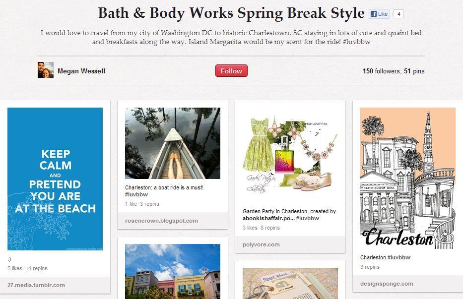 Bath and Body Works Pinterest