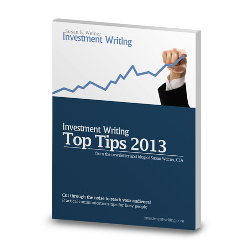 Investment Writing Top Tips cover