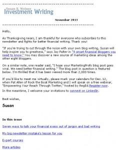 Nov 2013 newsletter page 1