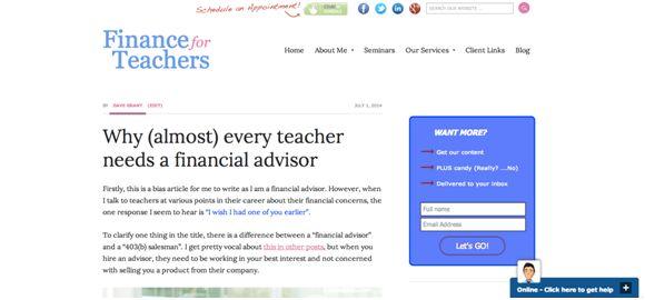 finance for teachers