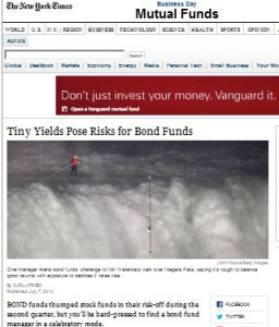 Tiny Yields Pose Risks for Bond Funds
