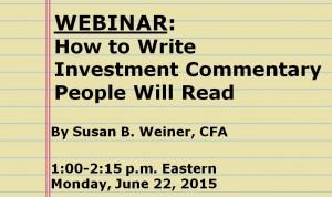 Investment commentary webinar June 22, 2015