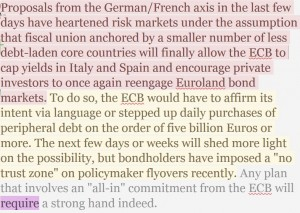 Hemingway analysis of ECB sample